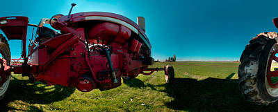 Tractor In A Field, Everett, Snohomish Poster by Panoramic Images
