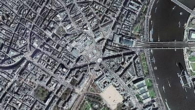Trafalgar Square Poster by Getmapping Plc