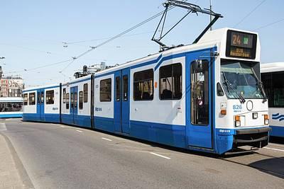 Tram In Amsterdam Poster