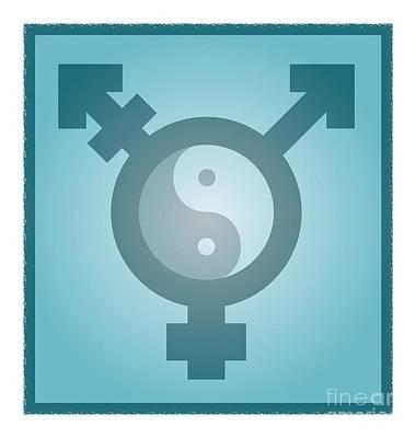 Transgender Balance, Conceptual Artwork Poster by Stephen Wood