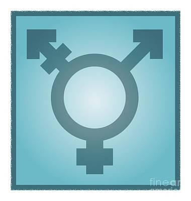 Transgender Symbol, Artwork Poster by Stephen Wood