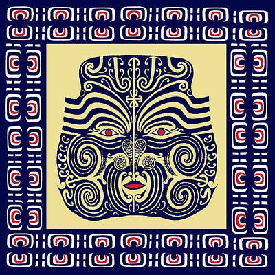 Marquesas Tribal Spirits Poster by Vagabond Folk Art - Virginia Vivier