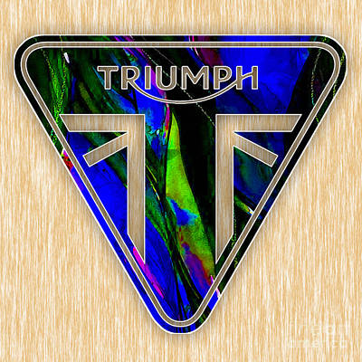 Triumph Motorcycles Poster by Marvin Blaine