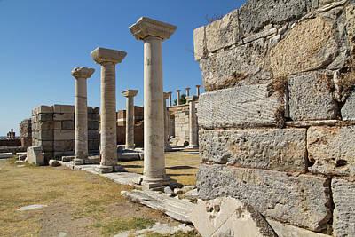 Turkey, Ephesus Ruins Of The Basilica Poster
