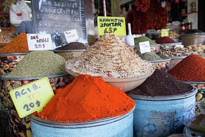 Turkey, Gaziantep, Medina, Spice Market Poster by Emily Wilson