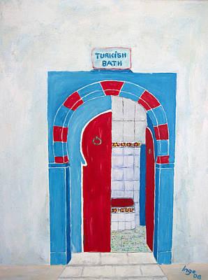 Turkish Bath Poster by Inge Lewis