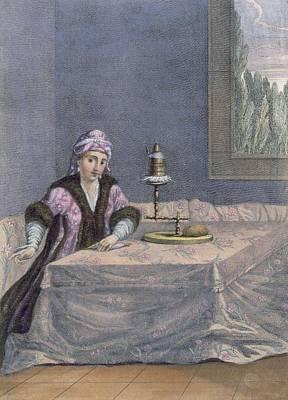 Turkish Woman Spinning Thread, C.1708 Poster
