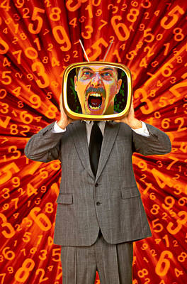 Tv Man Poster by Garry Gay
