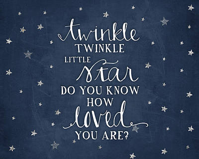 Twinkle Little Star Poster by Amy Cummings