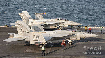 Two Fa-18 Super Hornet Aircraft Poster