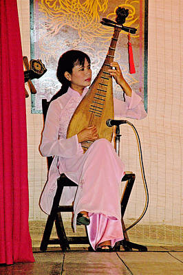 Two-stringed Lute Player At Wedding Ceremony Show In Binh Quoi Village-vietnam  Poster by Ruth Hager