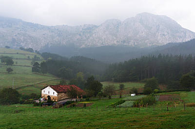 typical basque country house in Axpe Poster by Mikel Martinez de Osaba
