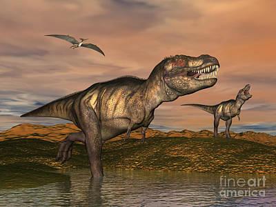 Tyrannosaurus Rex Dinosaurs Poster