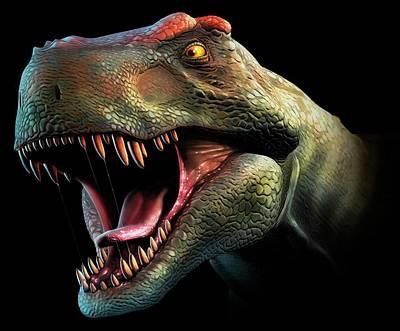 Tyrannosaurus Rex Head Study Poster
