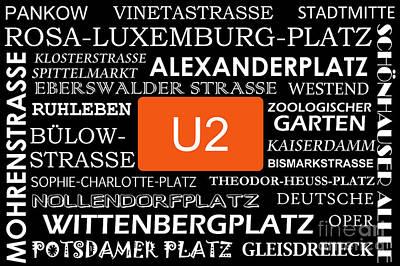 U Bahn Metro U2 Berlin Poster by Art Photography