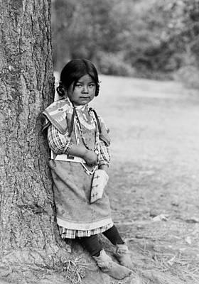 Umatilla Girl Circa 1910 Poster by Aged Pixel
