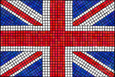 Union Jack Mosaic Poster by Jane Rix