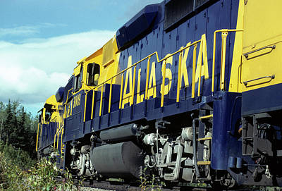 Usa, Alaska, Alaska Railroad, Denali Poster by Gerry Reynolds