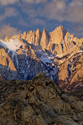 Usa, California Sunrise On Mt Whitney Poster by Jaynes Gallery
