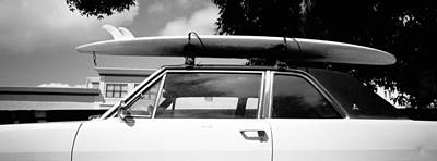 Usa, California, Surf Board On Roof Poster by Panoramic Images