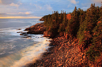 Usa, Maine, Acadia National Park, Ocean Poster
