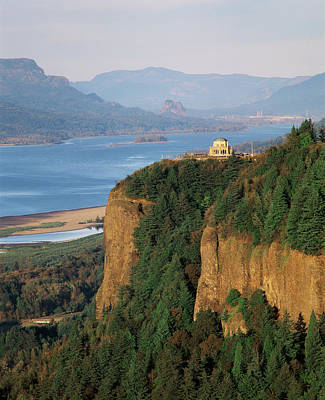 Usa, Oregon, Columbia River Gorge, View Poster