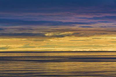 Usa, Washington Sunrise On Strait Poster