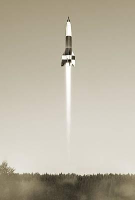 V-2 Rocket Launch, Artwork Poster
