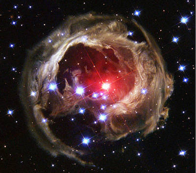 V838 Monocerotis, Red Variable Star Poster by Science Source