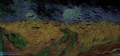 Van Gogh Painting As Data Art Poster
