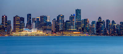 Vancouver City Panorama Poster by Pierre Leclerc Photography