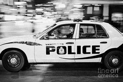 Vancouver Police Squad Patrol Car Vehicle Bc Canada Deliberate Motion Blur Poster