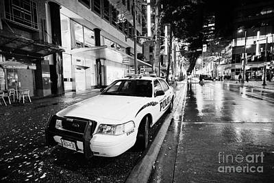 Vancouver Police Squad Patrol Car Vehicle Bc Canada Poster by Joe Fox