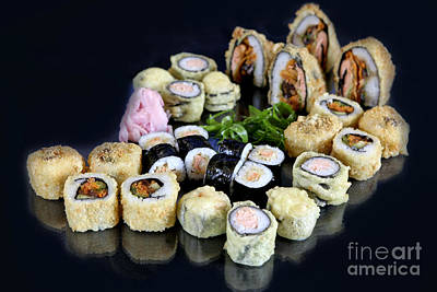 Various Types Of Sushi  Poster by PhotoStock-Israel