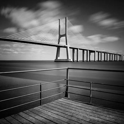 Vasco Da Gama Bridge Poster by Nina Papiorek