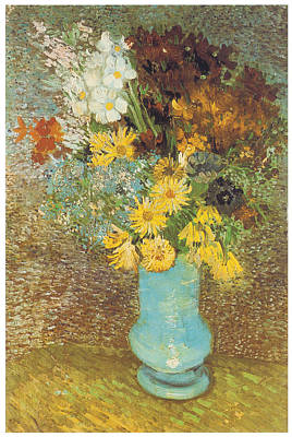 Vase With Daisies And Anemones Poster by Vincent Van Gogh