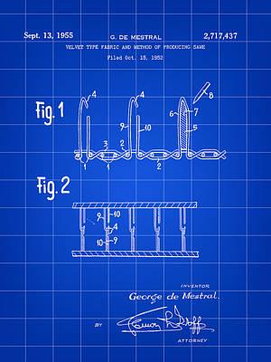 Velcro Patent 1952 - Blue Poster