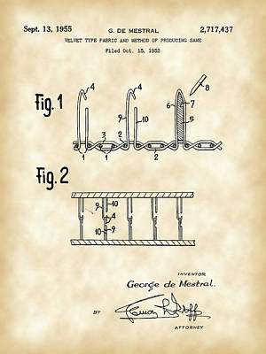 Velcro Patent 1952 - Vintage Poster