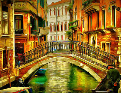 Venice Bridges 2 Poster by Yury Malkov