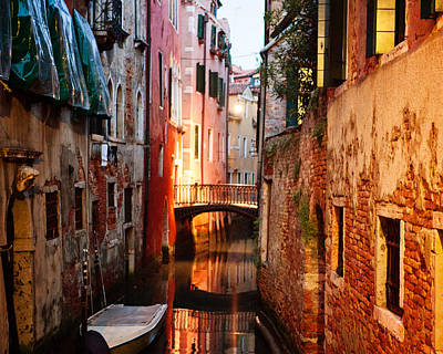 Poster featuring the photograph Venice Italy Canal by Kim Fearheiley