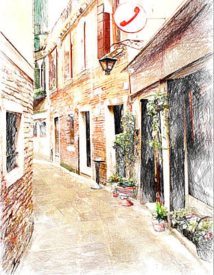 Venice Streets 1 Poster by Yury Malkov