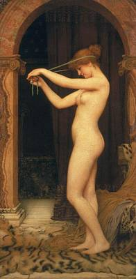 Venus Binding Her Hair Poster by John William Godward