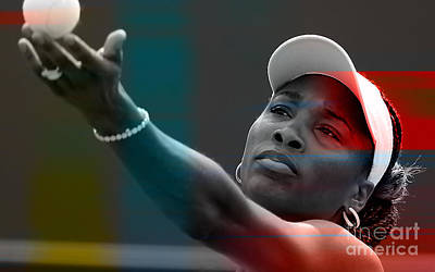 Venus Williams Poster by Marvin Blaine