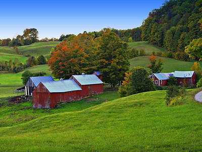 Vermont's Jenne Farm Poster by John Vose