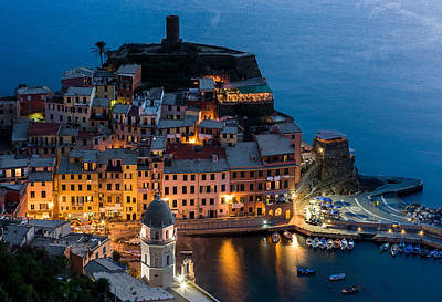 Poster featuring the photograph Vernazza Harbor by Carl Amoth
