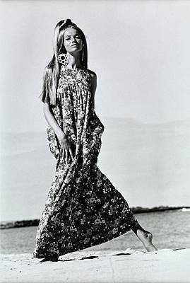 Veruschka Wearing A Kahala Dress Poster