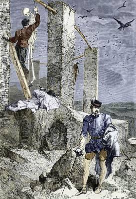 Vesalius Stealing A Skeleton, Artwork Poster
