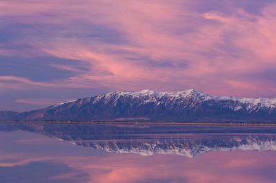 View From Antelope Island Causeway Poster by Howie Garber