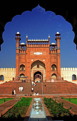 View From The Arch Of Badshahi Masjid Poster