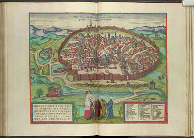 View Of Jerusalem Poster by British Library